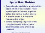 special order decisions33