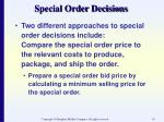 special order decisions34