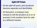 split off points