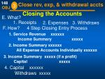 closing the accounts
