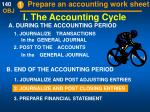 i the accounting cycle