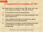 4 essential principles of tbl