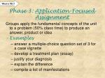phase 3 application focused assignment
