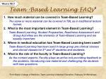 team based learning faqs