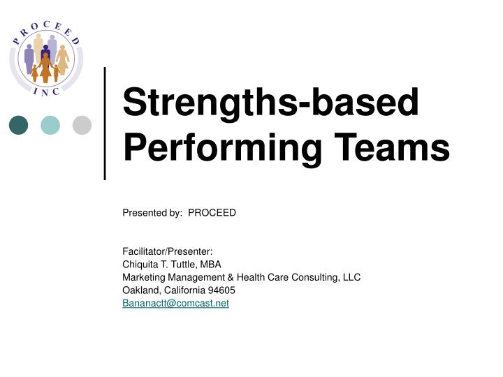 strengths based performing teams n.