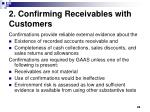 2 confirming receivables with customers