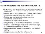 fraud indicators and audit procedures 3