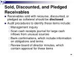 sold discounted and pledged receivables