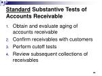 standard substantive tests of accounts receivable
