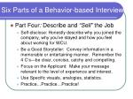 six parts of a behavior based interview20