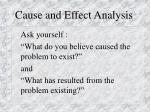 cause and effect analysis31