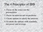 the 4 principles of ibb