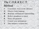the c o r r e c t method