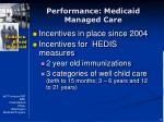 performance medicaid managed care