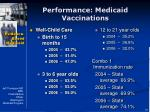 performance medicaid vaccinations