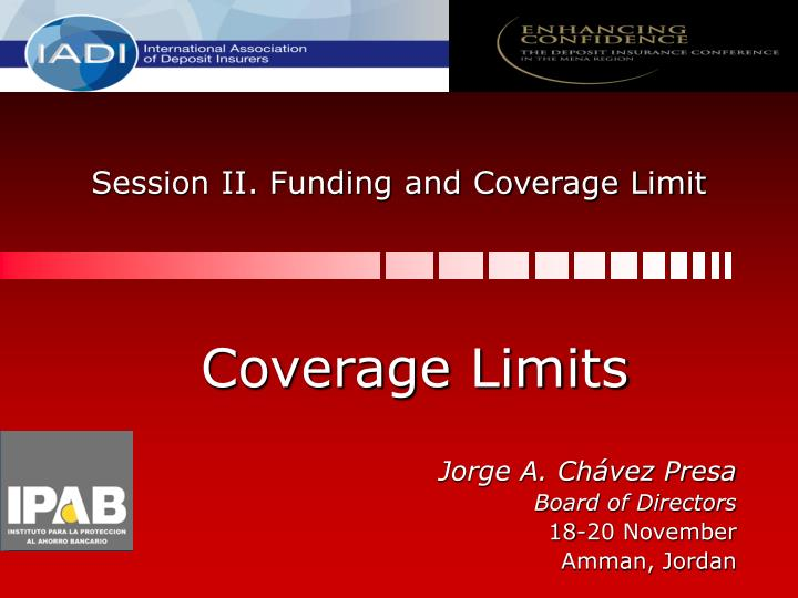 session ii funding and coverage limit n.