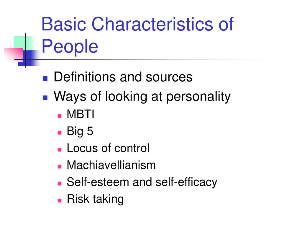basic characteristics of people l.