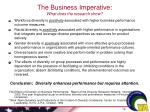 the business imperative what does the research show
