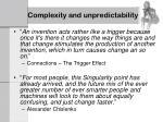 complexity and unpredictability