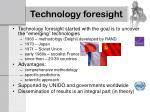 technology foresight