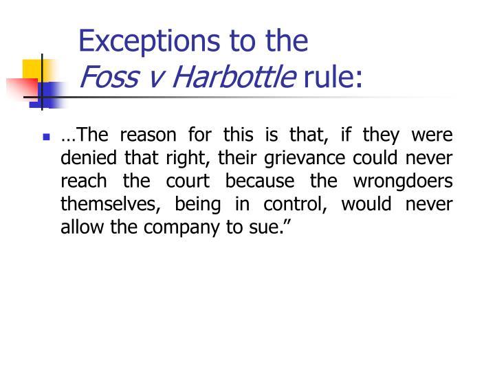 foss v harbottle summary