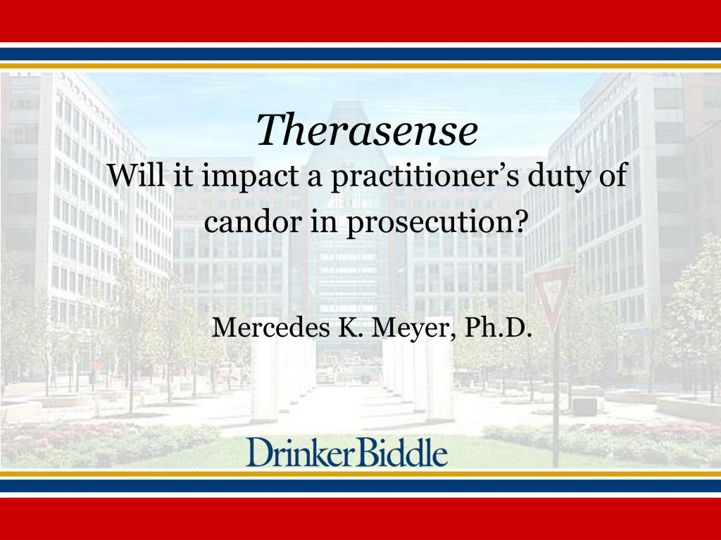 therasense will it impact a practitioner s duty of candor in prosecution l.