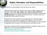 rights remedies and responsibilities