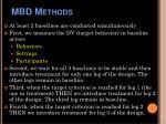 mbd methods
