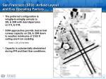 san francisco sfo airfield layout and key operating factors