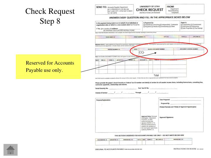 Reserved for Accounts Payable use only.