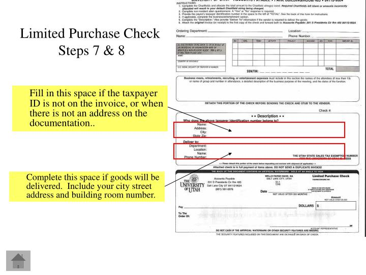 Fill in this space if the taxpayer ID is not on the invoice, or when there is not an address on the documentation..