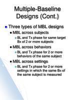 multiple baseline designs cont