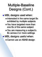 multiple baseline designs cont3