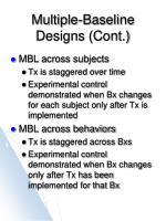 multiple baseline designs cont4