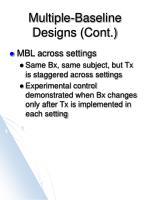 multiple baseline designs cont5
