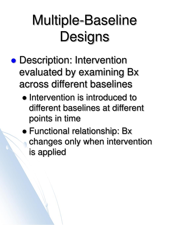 multiple baseline designs l.