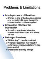 problems limitations