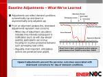 baseline adjustments what we ve learned