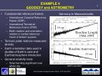 example 4 geodesy and astrometry
