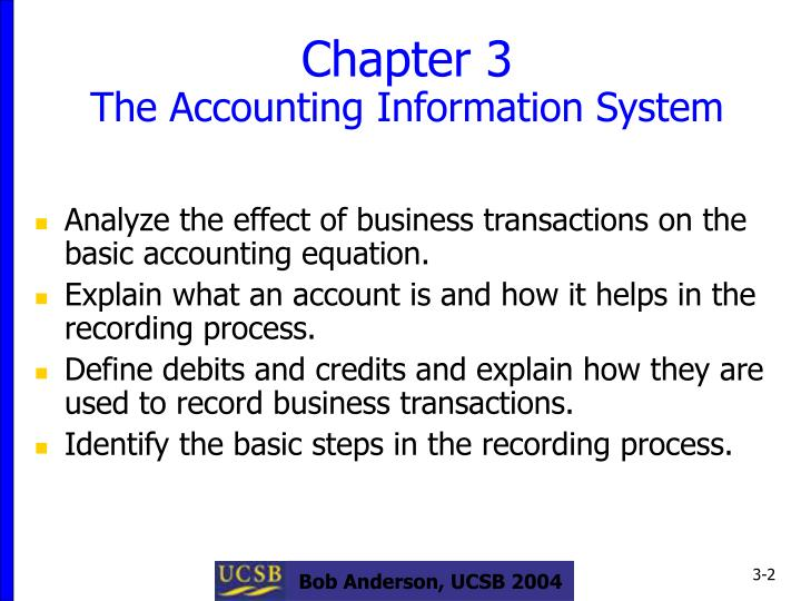 Chapter 3 the accounting information system