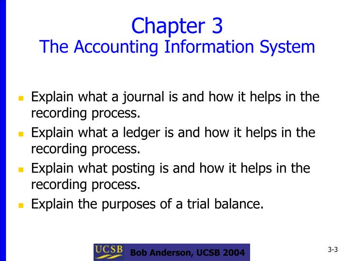 Chapter 3 the accounting information system3