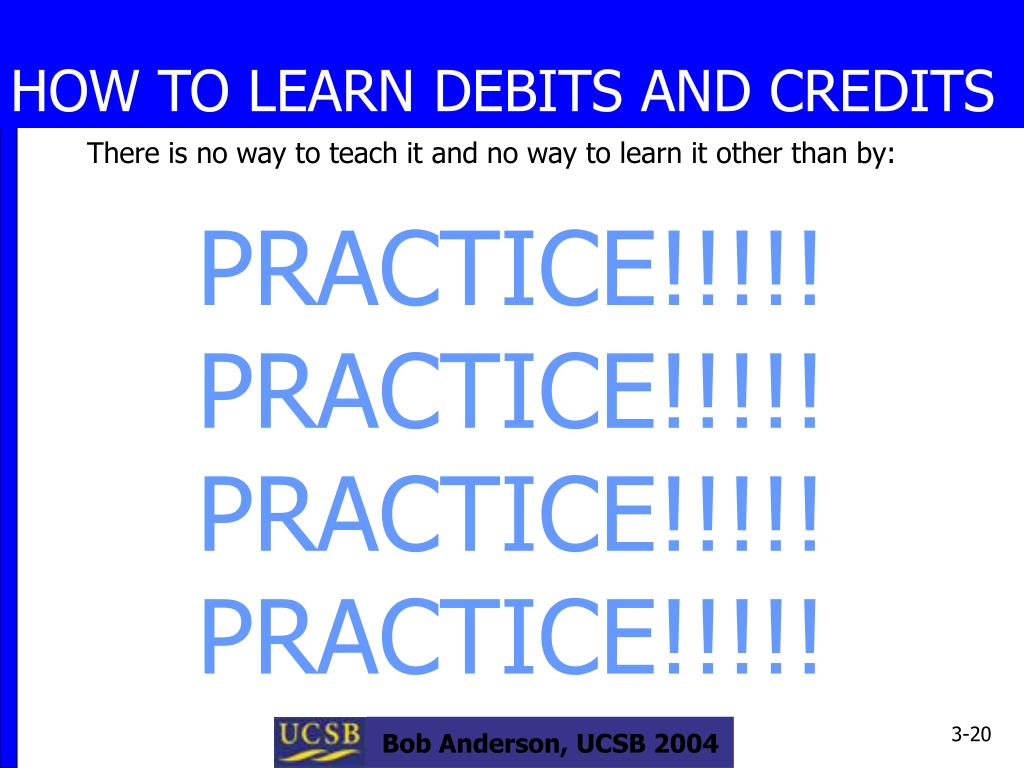 HOW TO LEARN DEBITS AND CREDITS