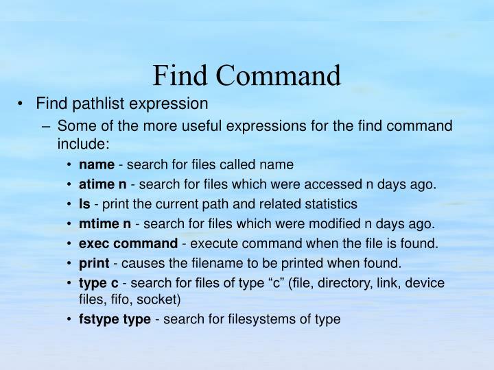 Find pathlist expression