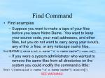 find command4