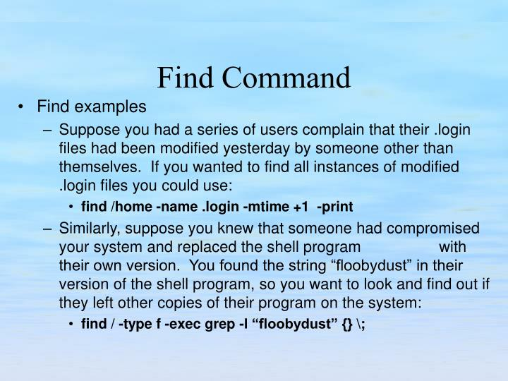 Find examples
