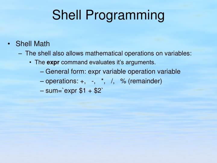 Shell Math