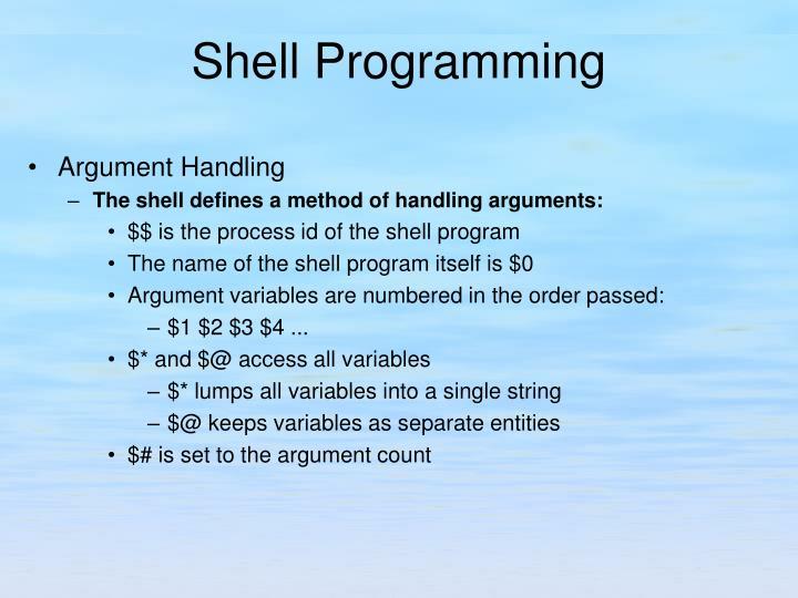 Argument Handling