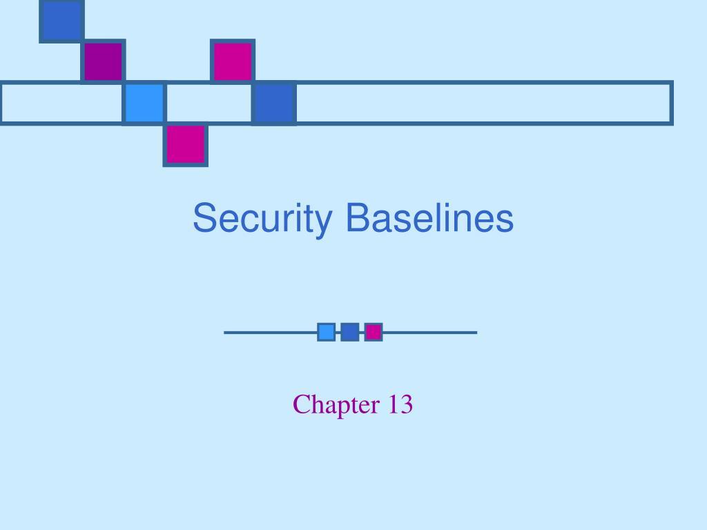 security baselines l.