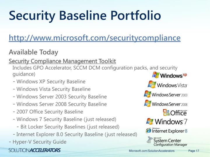 Security Baseline Portfolio