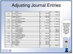 adjusting journal entries